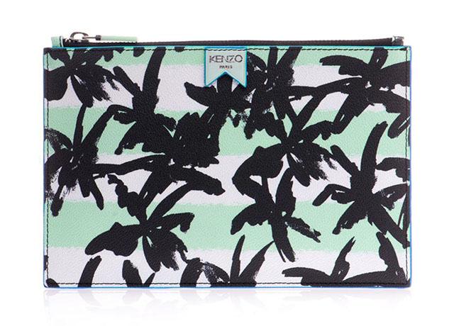 Kenzo Palm Print Pouch
