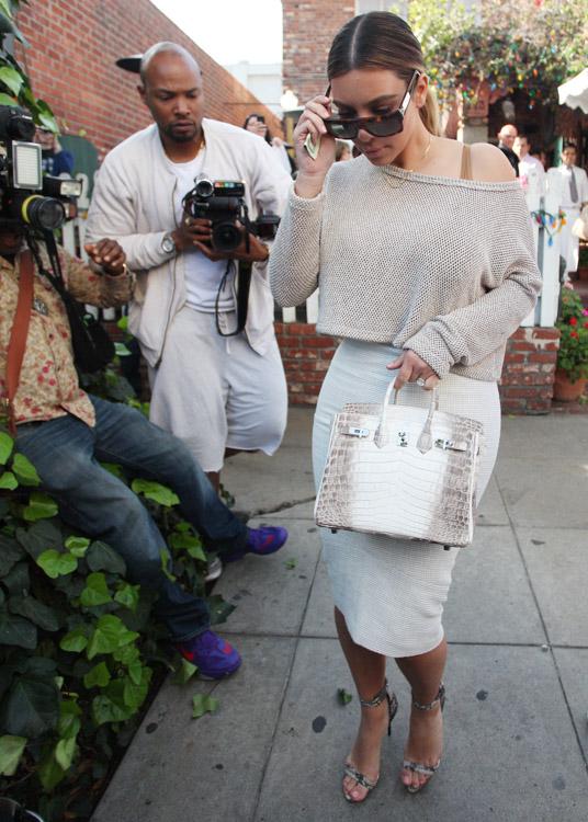 Kim Kardashian Hermes Himalayan Crocodile Birkin Bag-2