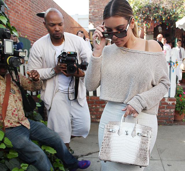 Kim Kardashian Hermes Himalayan Crocodile Birkin Bag