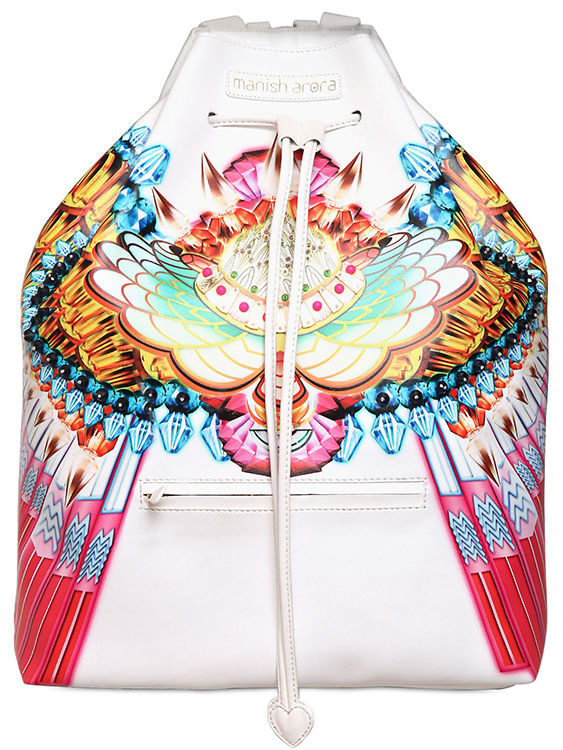 Manish Arora Printed Faux leather Backpack