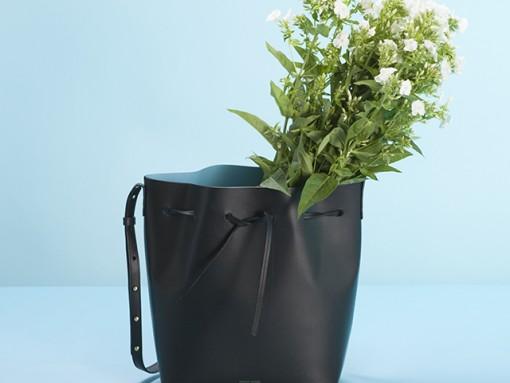 Mansur Gavriel Bucket Bag Black Marina Lookbook