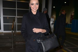 Miranda Kerr Leaves a Photo Shoot with an Hermes Kelly