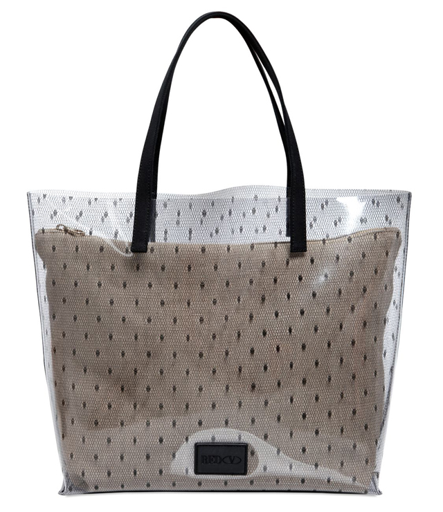 RED Valentino Dotted PVC Tote