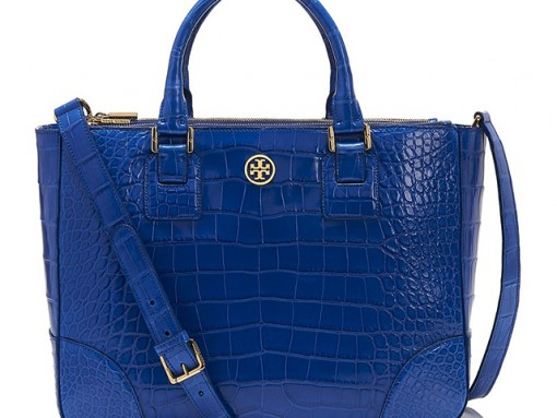 Tory Burch Robinson Alligator Tote Bag
