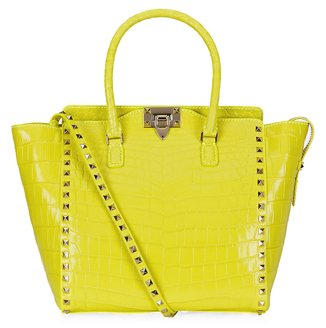 Valentino Rockstud Crocodile Shopper