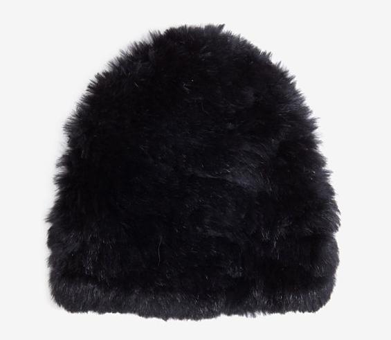 Yves Salomon Rabbit Knit Cap