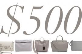 5 Under 500 Grey Bags