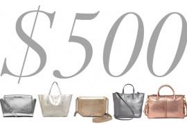 5 Under 500 Metallic Bags