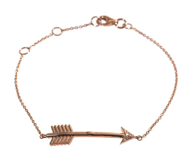 Aamaya by Priyanka Topaz and Rose Gold Arrow Bracelet