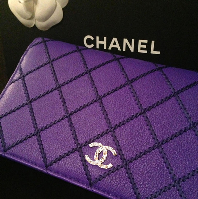 Chanel Purple Wallet