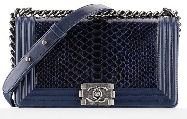 Chanel Python Boy Bag