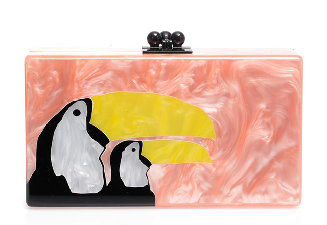 Edie Parker Jean Toucan Box Clutch