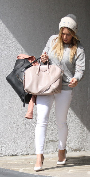 Hilary Duff Givenchy Antigona Celine Luggage Tote-1