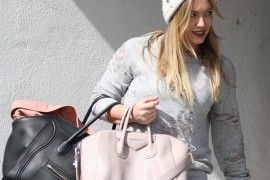 Hilary Duff Carries Both Celine and Givenchy to the Gym
