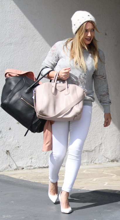 Hilary Duff Givenchy Antigona Celine Luggage Tote-3