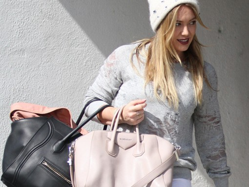 Hilary Duff Givenchy Antigona Celine Luggage Tote