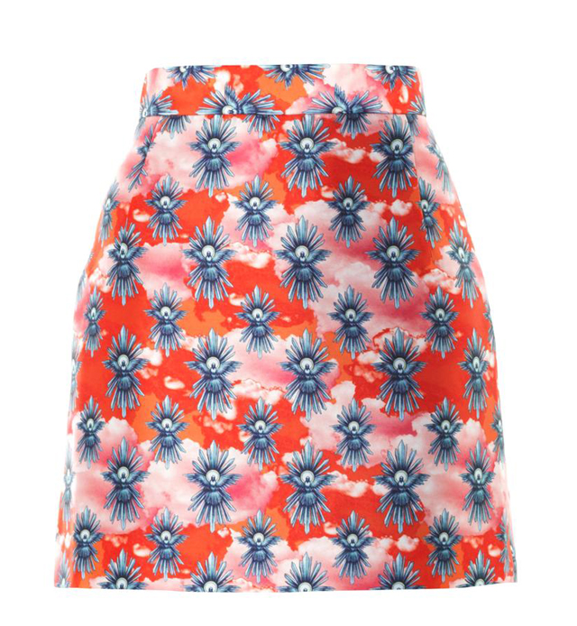 House of Holland Tropical Print Mini Skirt