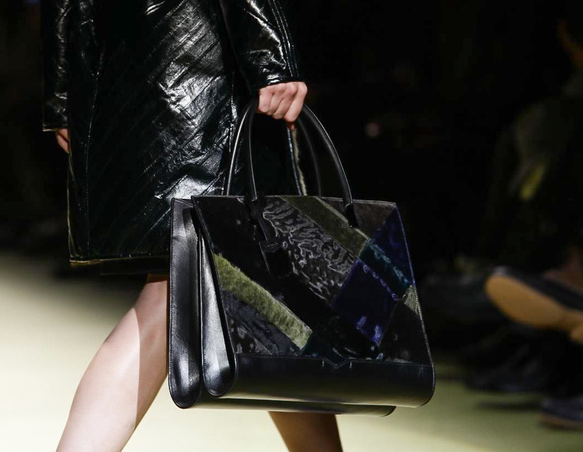 J. Mendel Fall 2014 Patchwork Fur Tote Bag