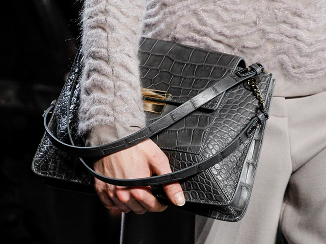 Jason Wu Fall 2014 Crocodile Shoulder Bag
