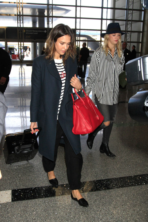 Jessica Alba Saint Laurent Sac de Jour Bag-2