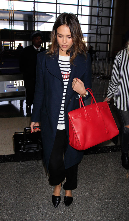 Jessica Alba Saint Laurent Sac de Jour Bag-4