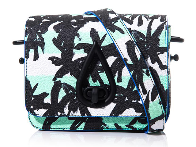Kenzo Faux Leather Palm Print Crossbody Bag