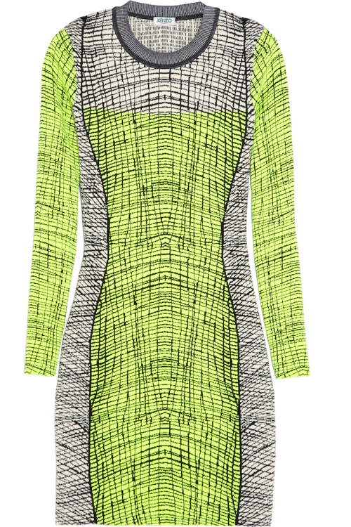 Kenzo Stretch Knit Mini Dress