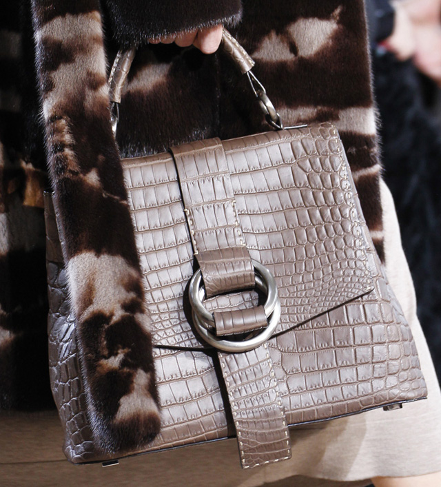 Michael Kors Fall 2014 Crocodile Top Handle Bag