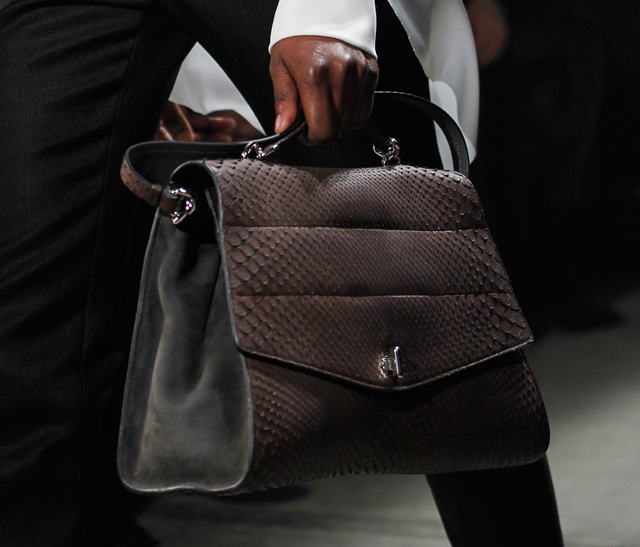 Narciso Rodriguez Fall 2014 Snakeskin Top Handle Bag