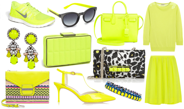 Neon Yellow Bags Accessories and Clothes