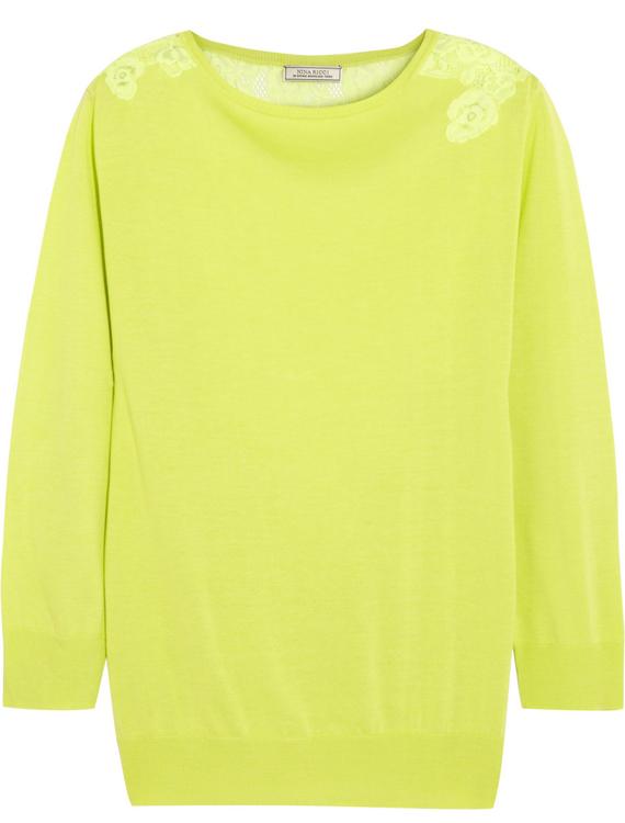 Nina Ricci Silk and Cotton Blend Sweater