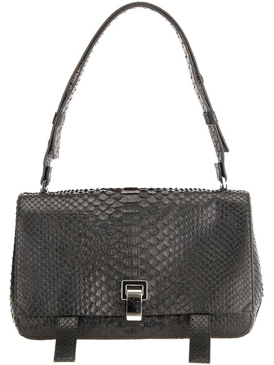 Proenza Schouler Python Courier Bag