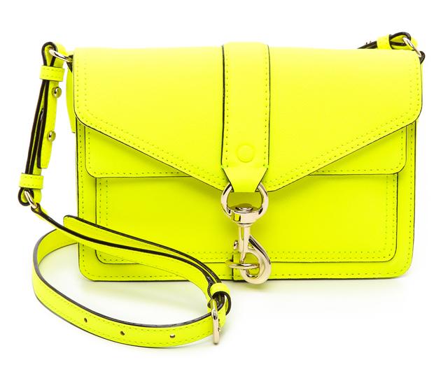 Rebecca Minkoff Neon Hudson Moto Mini Bag