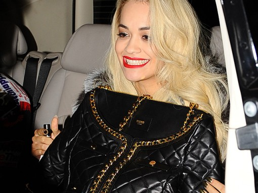 Rita Ora Moschino Quilted Suit Jacket Bag