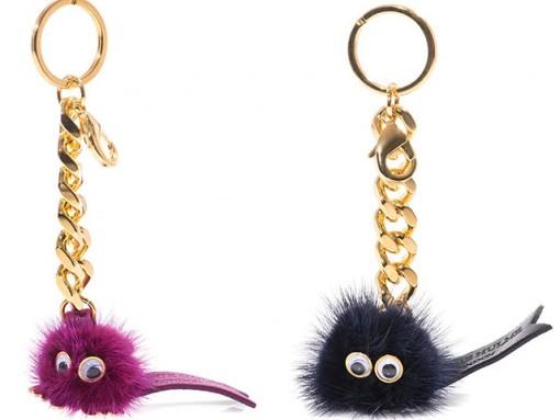 Sophie Hulme Fuzzy Mink Bag Charms