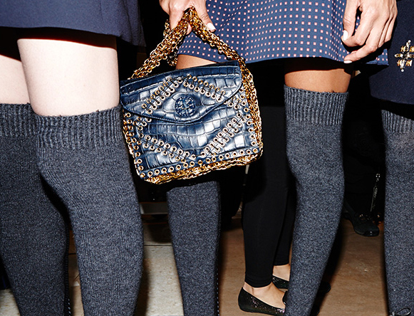 Tory Burch Fall 2014 Alligator and Chain Bag