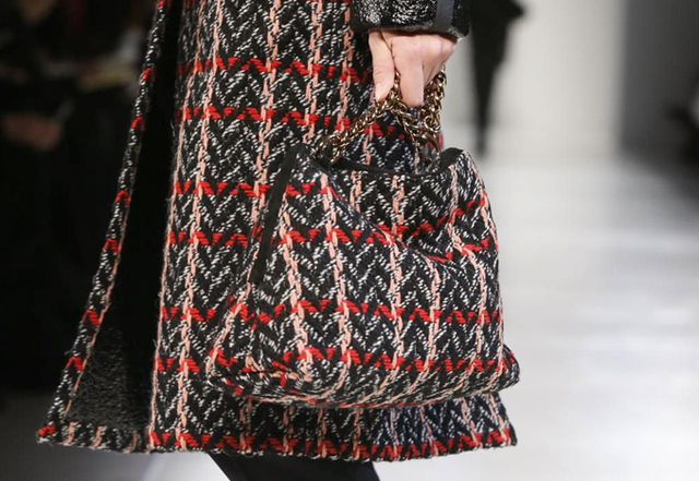 Victoria Beckham Fall 2014 Tweed Bag