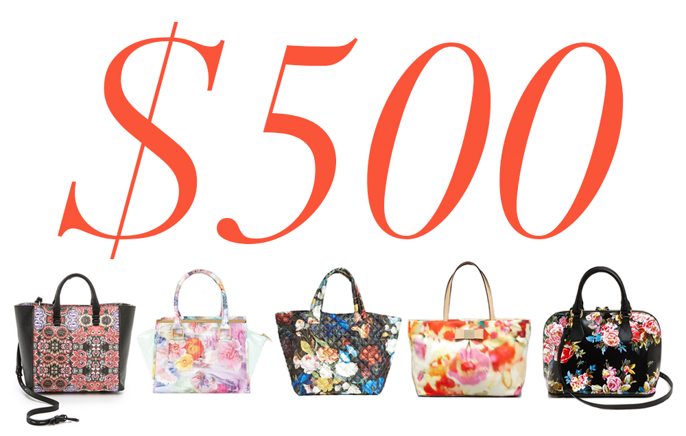 5 Under 500 Floral Bags