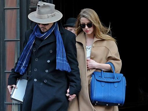 Amber Heard Alexander McQueen Heroine Python Tote