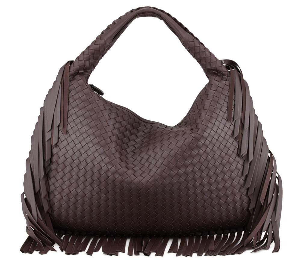 Bottega Veneta Veneta Large Fringed Hobo Bag