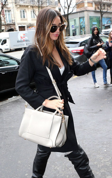 Celebrity Handbags at Paris Fashion Week Fall 2014-17
