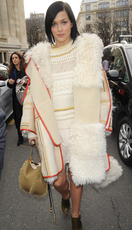 Celebrity Handbags at Paris Fashion Week Fall 2014-25