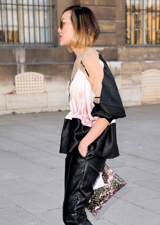 Celebrity Handbags at Paris Fashion Week Fall 2014-3