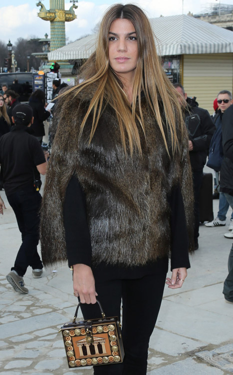 Celebrity Handbags at Paris Fashion Week Fall 2014-54