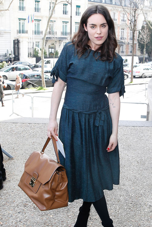 Celebrity Handbags at Paris Fashion Week Fall 2014-59