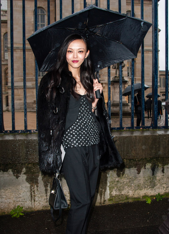 Celebrity Handbags at Paris Fashion Week Fall 2014-6