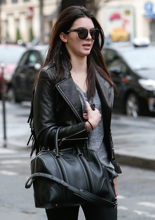Celebrity Handbags at Paris Fashion Week Fall 2014-7