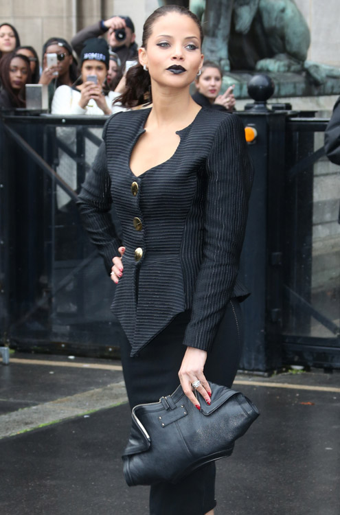 Celebrity Handbags at Paris Fashion Week Fall 2014-9