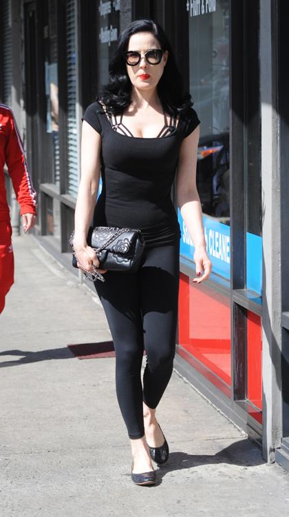 Dita Von Teese Chanel Camellia Flap Bag 4