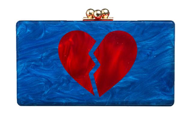 Edie Parker Broken Heart Jean Clutch